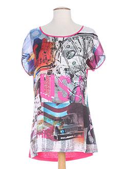 Produit-T-shirts / Tops-Femme-MAILLE INDIGO