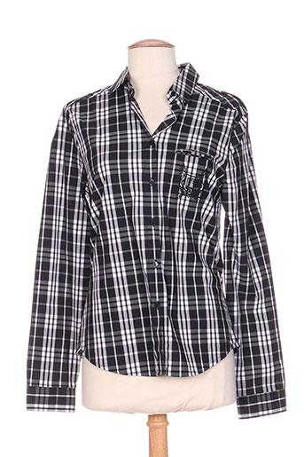 carla kops chemises femme de couleur noir