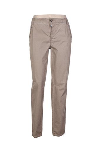 anna montana pantalons femme de couleur beige