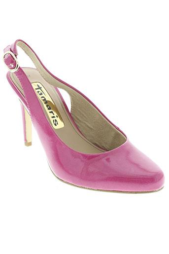 tamaris chaussures femme de couleur rose
