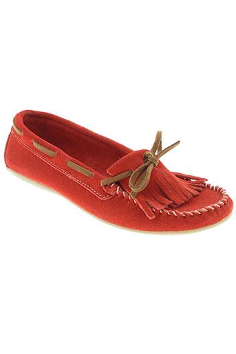 fugitive chaussures femme de couleur rouge