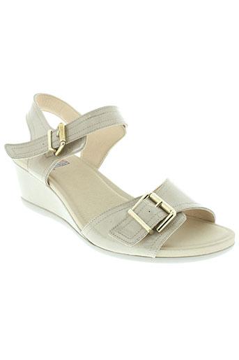 fluchos chaussures femme de couleur beige