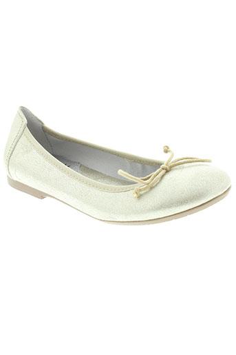 acebos chaussures fille de couleur jaune