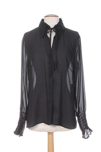 anne fontaine chemises femme de couleur noir