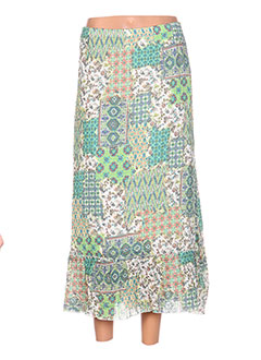 Jupe longue vert G!OZE pour femme