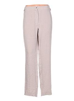 Pantalon casual gris JEAN DELFIN pour femme