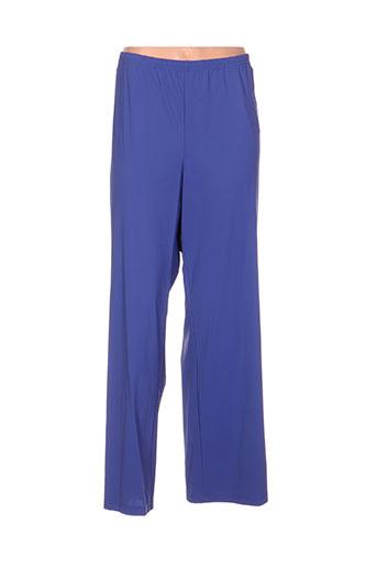 jean delfin pantalons femme de couleur bleu