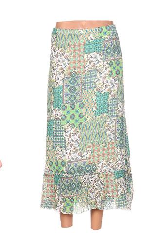 g!oze jupes femme de couleur vert