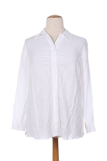 chalou chemises femme de couleur blanc