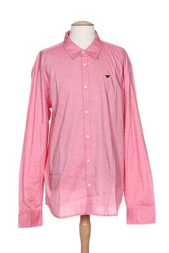 mustang chemises homme de couleur rose