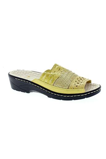 pedi girl chaussures femme de couleur jaune
