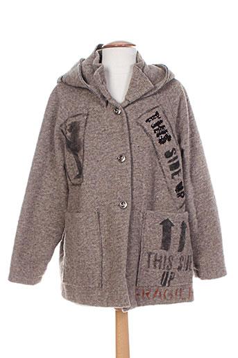 desoullounge manteaux femme de couleur gris