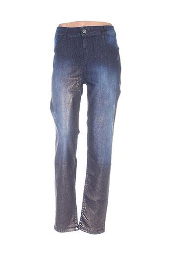 mat. jeans femme de couleur bleu