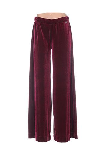 mat. pantalons femme de couleur rouge