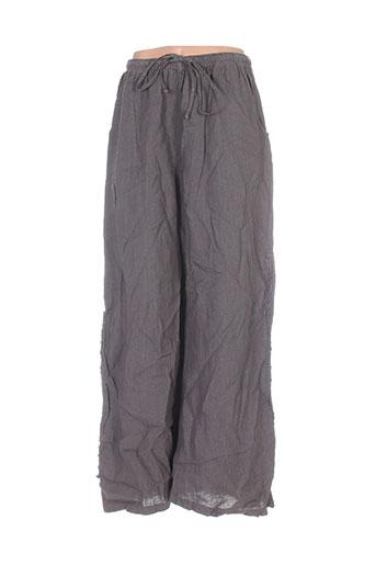 kristina pantalons femme de couleur marron