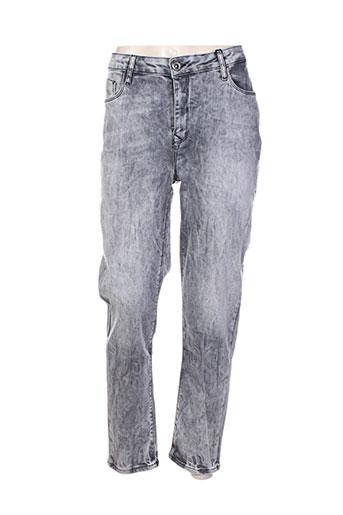 mat. jeans femme de couleur gris