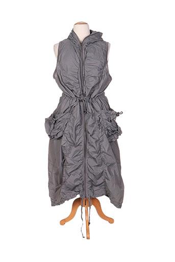 hebbeding manteaux femme de couleur gris