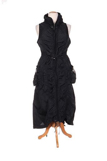 hebbeding manteaux femme de couleur noir