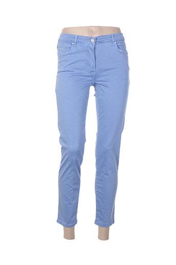 betty blue pantalons femme de couleur bleu