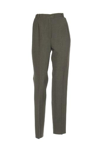 marcelle griffon pantalons femme de couleur vert