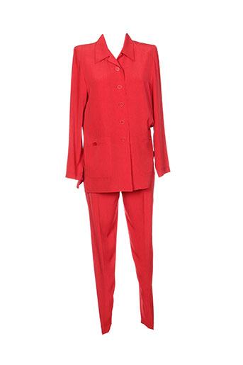 gerard pasquier ensemble femme de couleur rouge