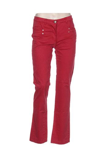 Pantalon casual rouge THALASSA pour femme