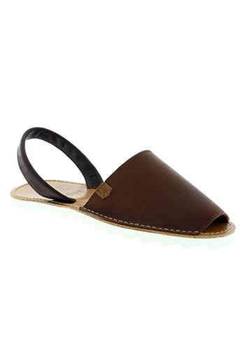 menorquinas chaussures homme de couleur marron