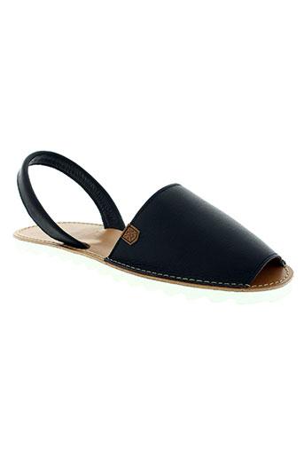 menorquinas chaussures homme de couleur noir