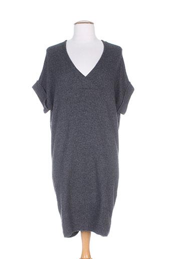 pull over robes femme de couleur gris