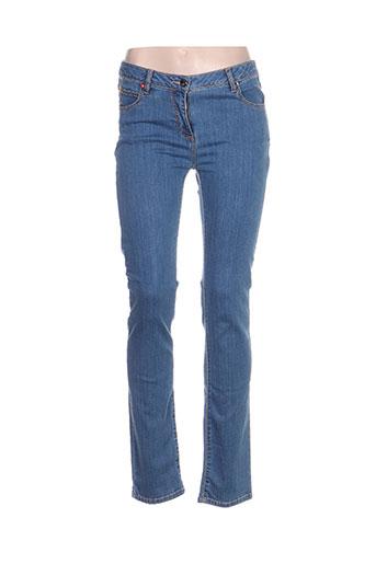 fleur de sel jeans femme de couleur bleu