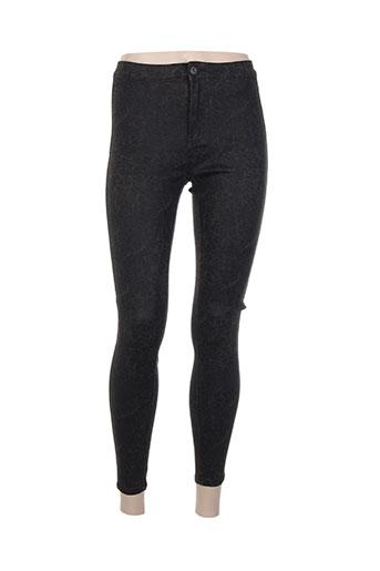 goldenim pantalons femme de couleur noir