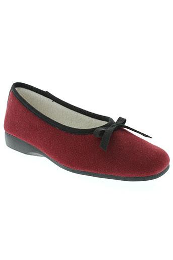 exquise chaussures femme de couleur rouge