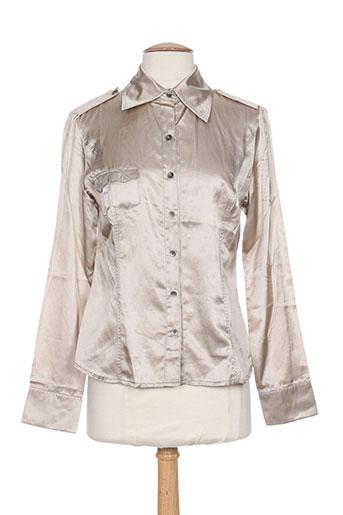 fred sabatier chemises femme de couleur beige