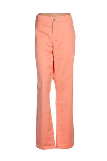 fred sabatier pantalons femme de couleur orange