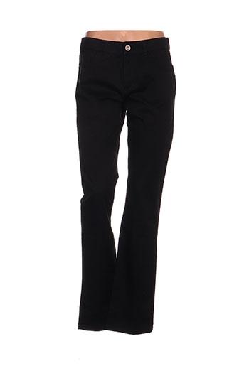 fred sabatier pantalons femme de couleur noir