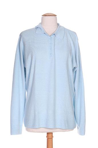 cashmere feeling pulls femme de couleur bleu