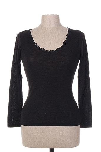 achel t-shirts femme de couleur noir