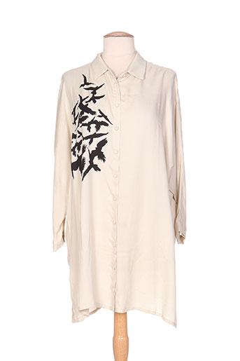 isabel de pedro chemises femme de couleur beige