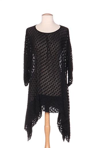 Tunique manches longues noir GRIZAS pour femme