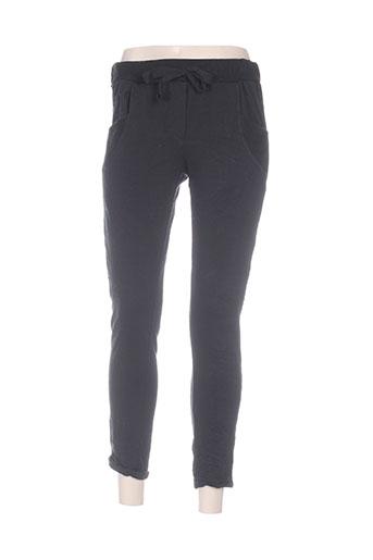 carla giannini pantalons femme de couleur noir