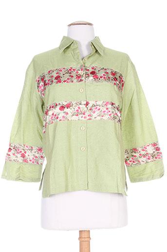 chadia chemises femme de couleur vert