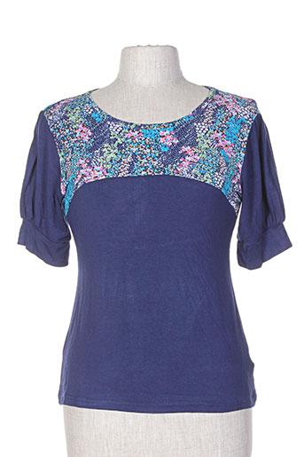 amari t-shirts femme de couleur bleu