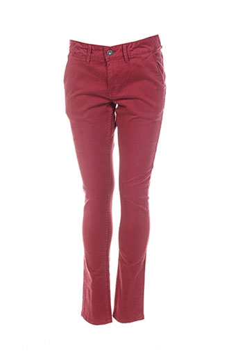 pepe jeans pantalons garçon de couleur rouge