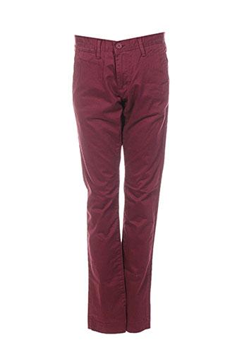 teddy smith pantalons garçon de couleur rouge