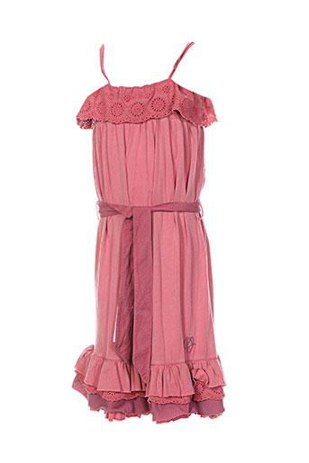 pepe jeans robes fille de couleur rose