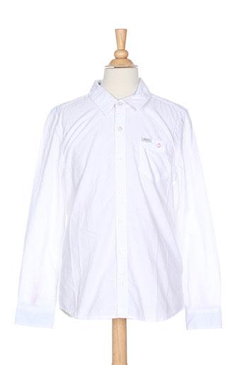pepe jeans chemises garçon de couleur blanc
