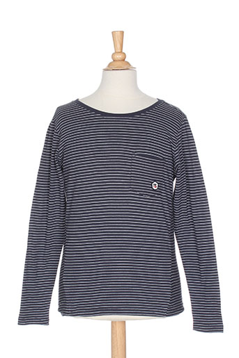 teddy smith t-shirts / tops garçon de couleur bleu