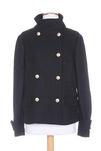thalassa manteaux femme de couleur noir