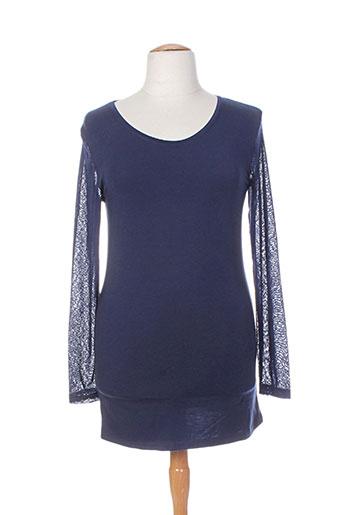 intown t-shirts femme de couleur bleu