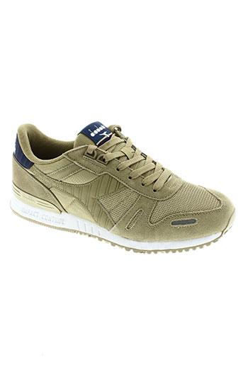diadora chaussures homme de couleur beige